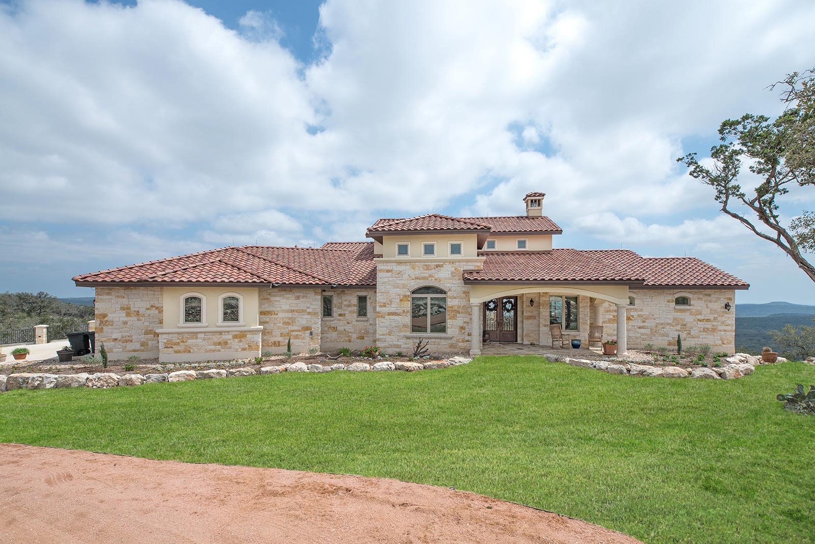 Luxury custom home texas hill country custom home Country home builders in texas