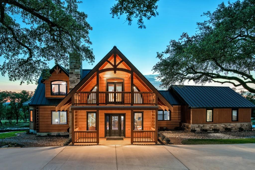 Custom Log Home - Custom Home Builder San Antonio - Robare