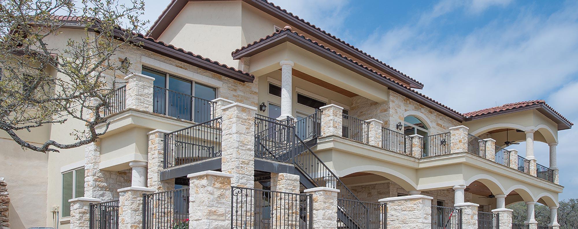 Custom Home Rear Elevation