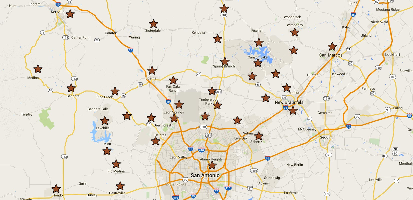 Custom Home Communities Map