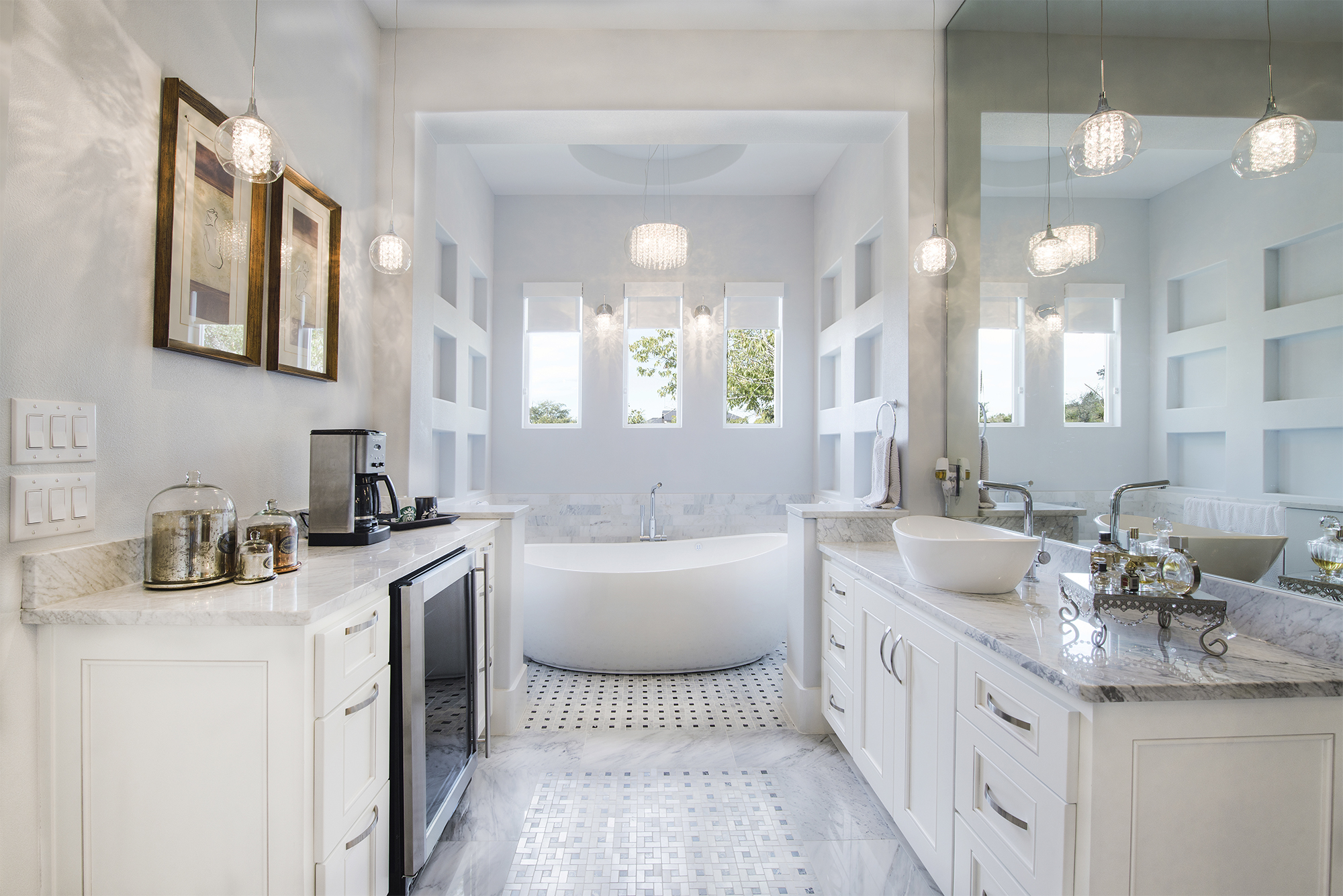 What Immediately Grabs Your Attention In A Master Bathroom? When Designing  This Space, Start With Great Visual Lines, Which Often Center On ...
