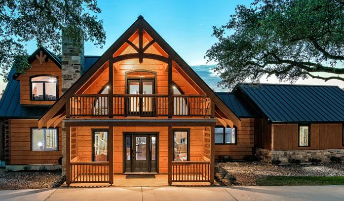 luxury epic log home custom home builder san antonio robare custom homes